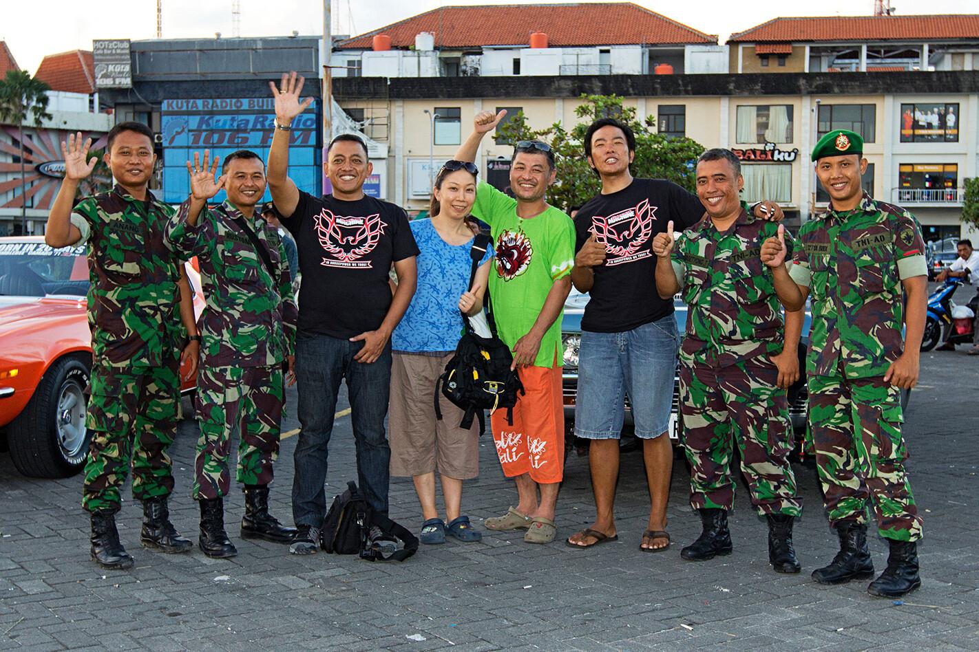 Street Machine fans in Bali