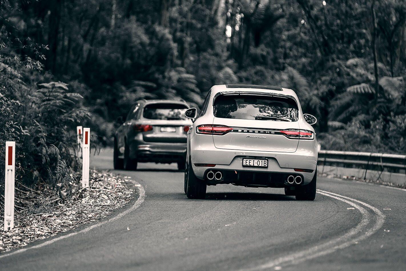 2020 Porsche Macan Turbo v 2020 Mercedes-AMG GLC63 S