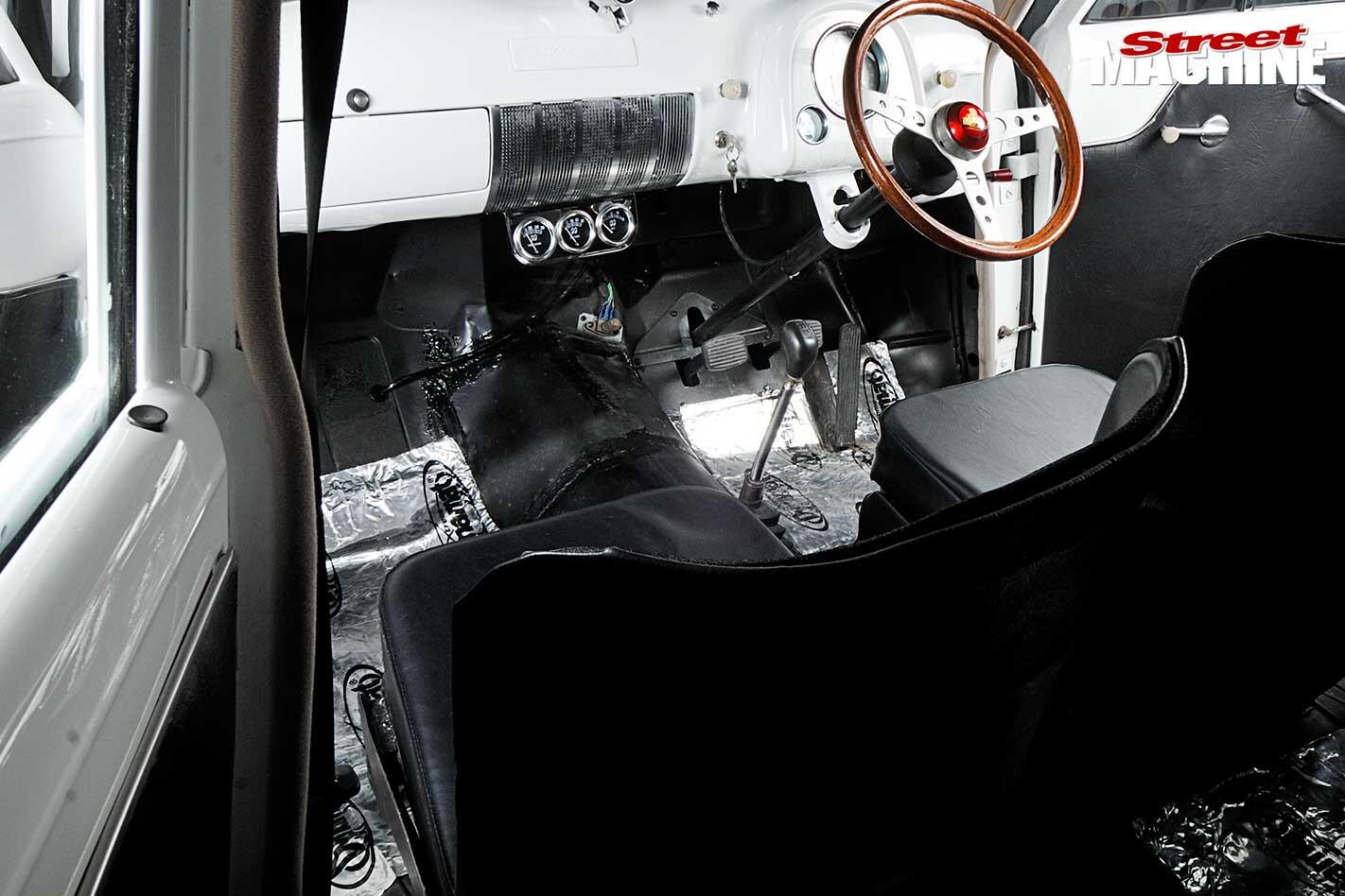 Holden FX gasser interior