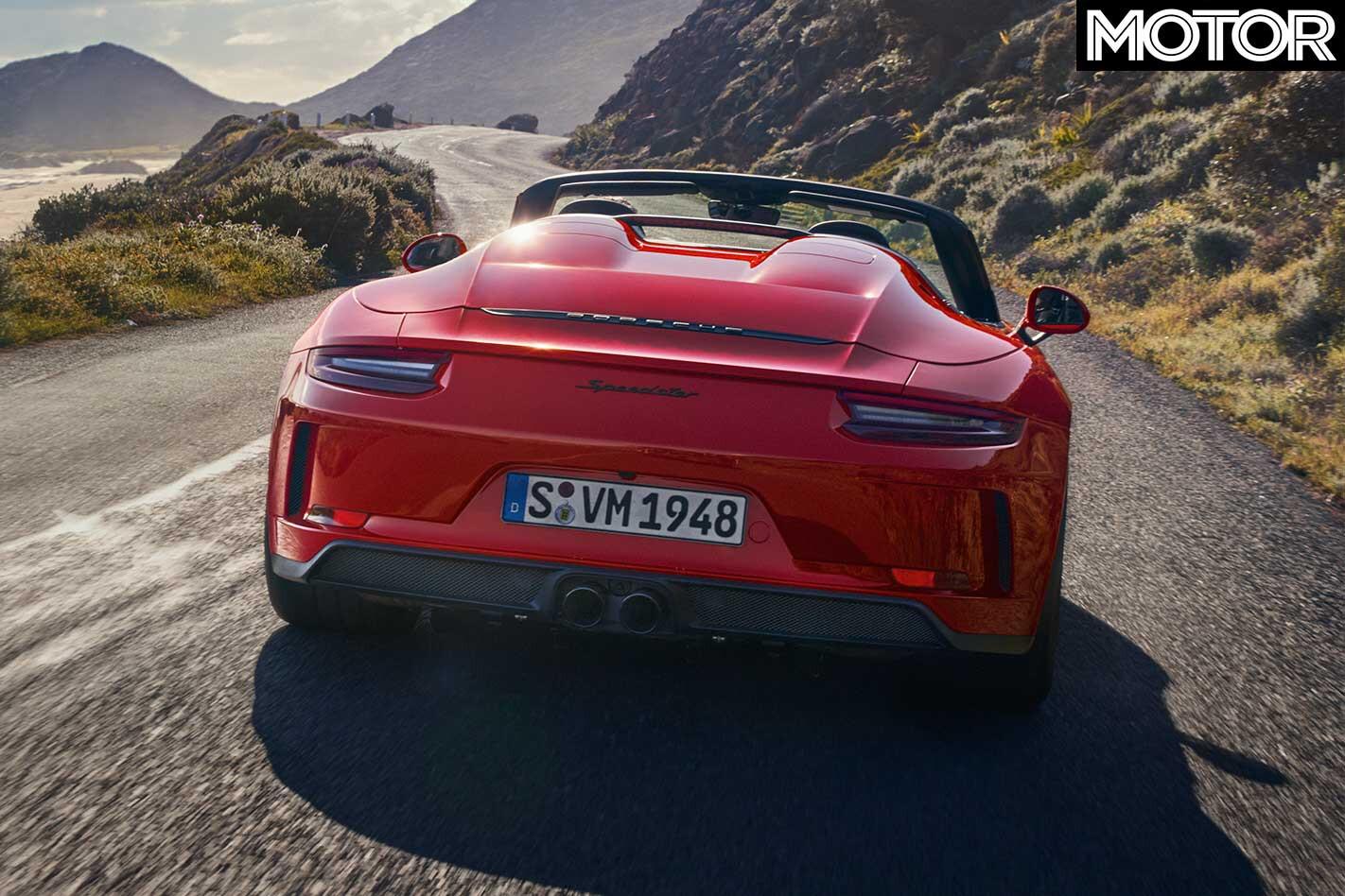 2019 Porsche 911 Speedster Rear Jpg
