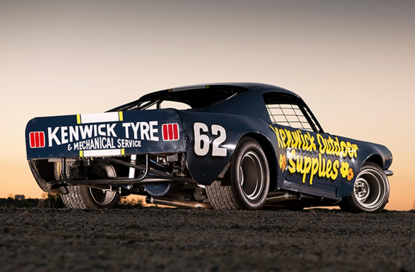 Speedway Mustang rear angle