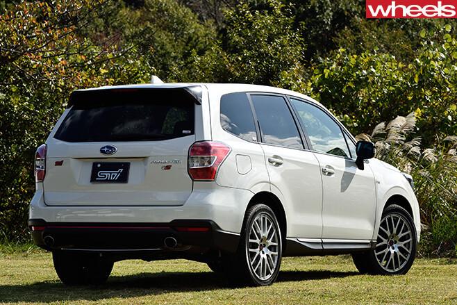 Subaru -Forester -STI-rear -parked