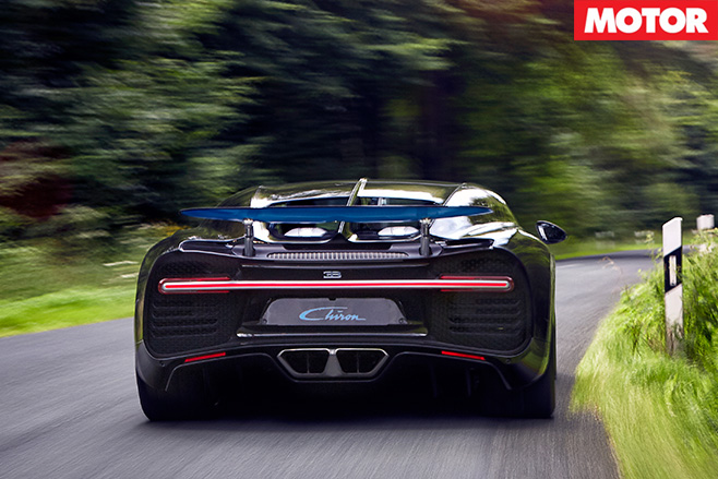 Bugatti Chiron rear driving