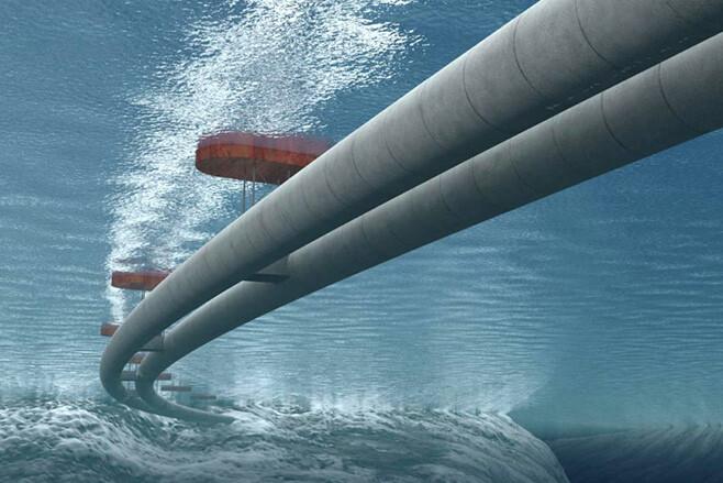 Norwegian underwater tunnel