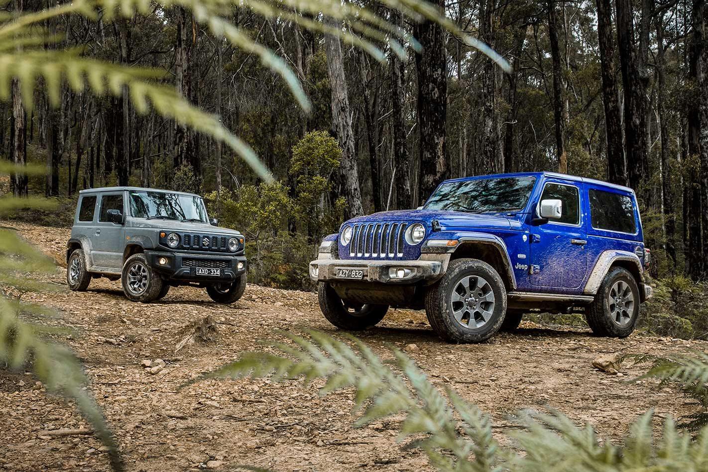 Suzuki Jimny vs Jeep Wrangler Overland comparison