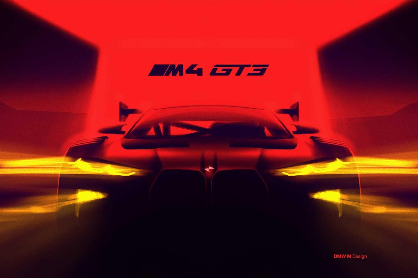 BMW M4 GT3 teased