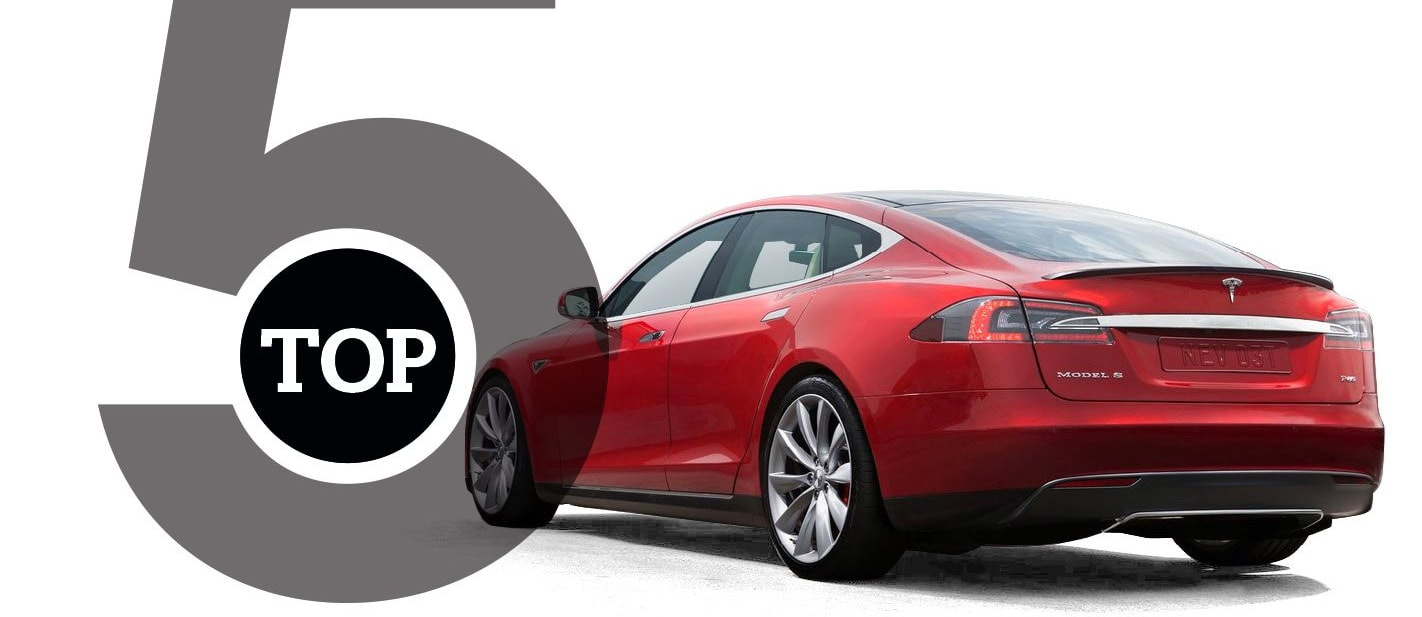 Top 5 Cars with the longest electric range