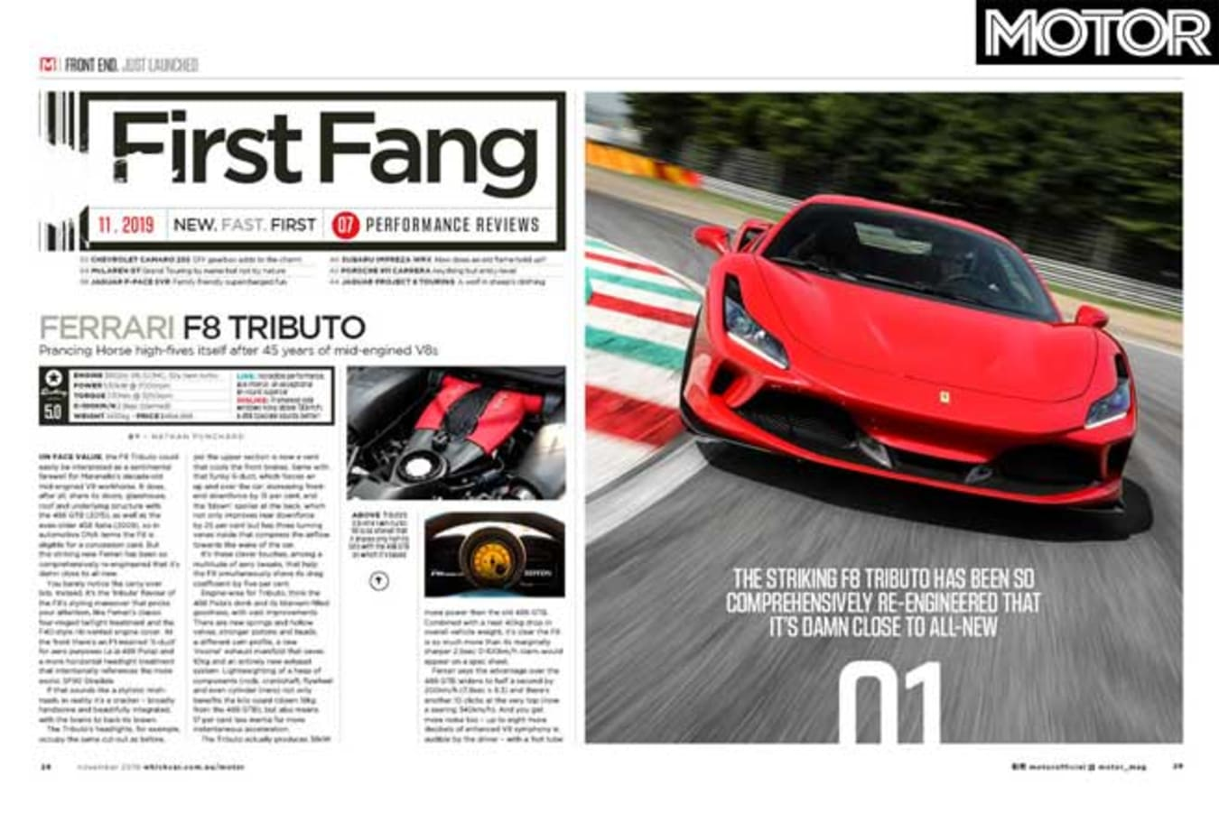 MOTOR Magazine November 2019 Issue Preview First Drives Jpg