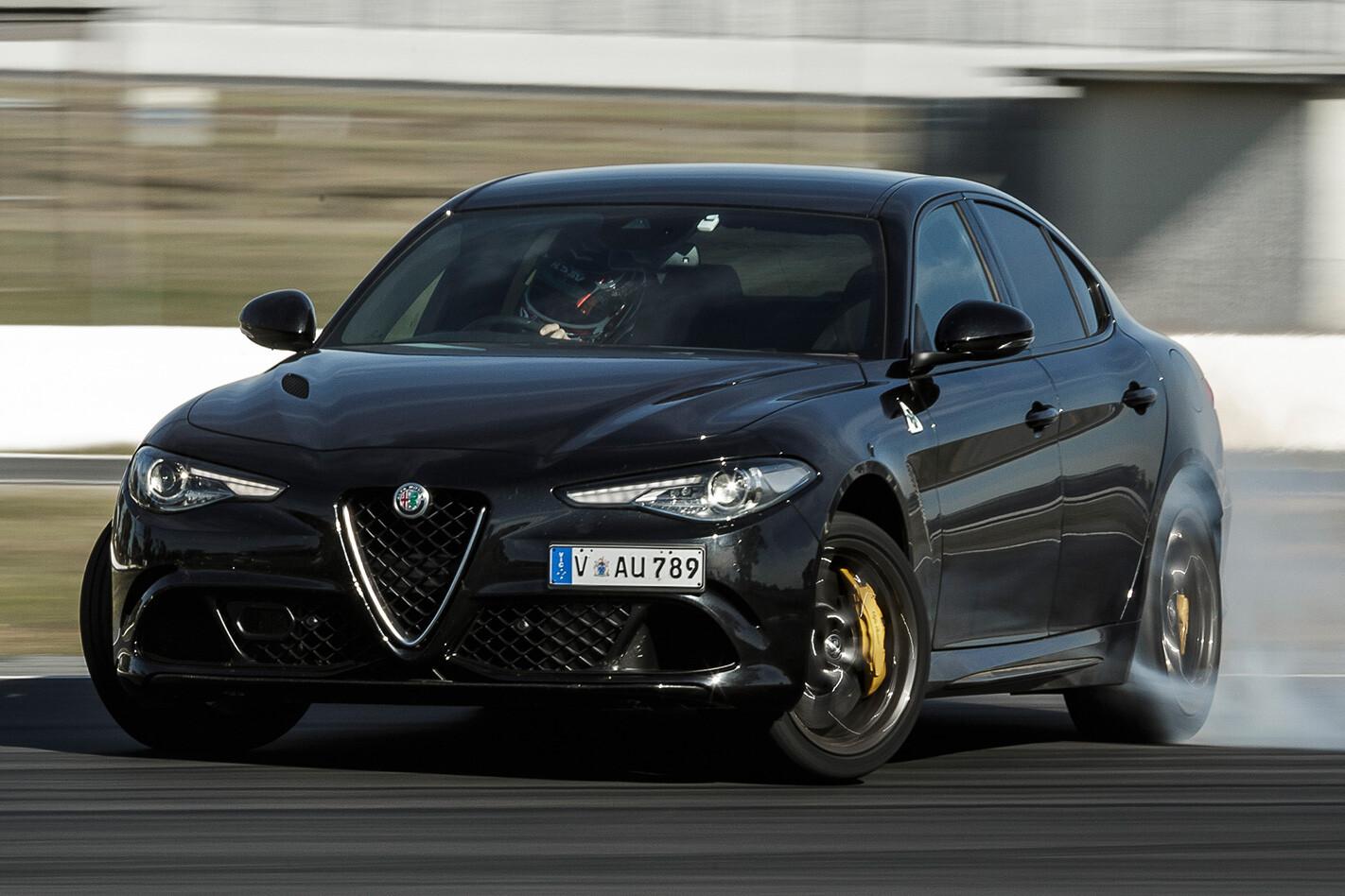 Alfa Romeo Giulia QV braking