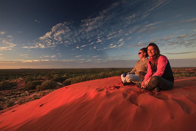 Sunset in Australian outback