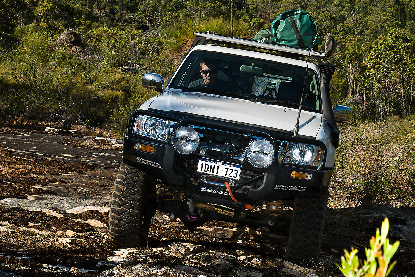 2010 Nissan Patrol GU7 Ti water crossing