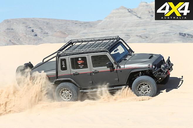 Jeep wrangler hell hog driving
