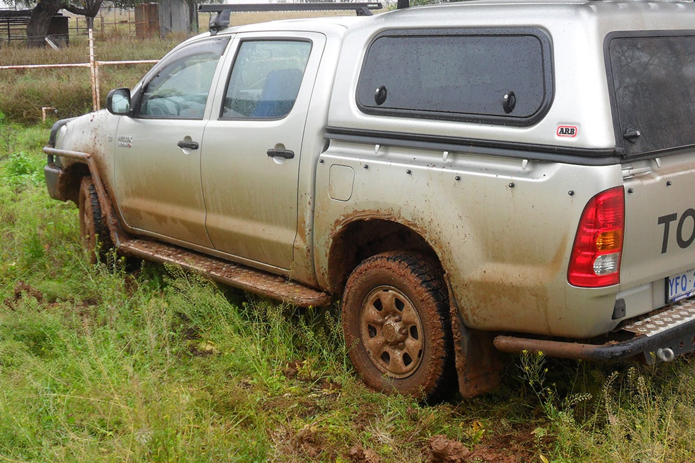 Toyota Hilux muddy tyres