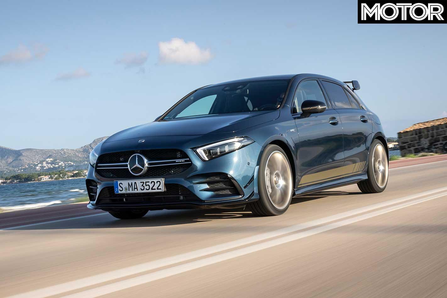2019 Mercedes AMG A 35 Front Dynamic Jpg