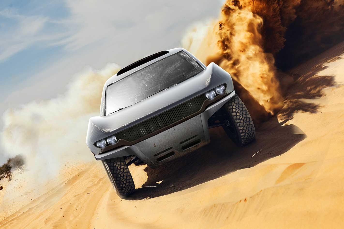 Bahrain Mumtalakat Prodrive develop Dakar Rally car