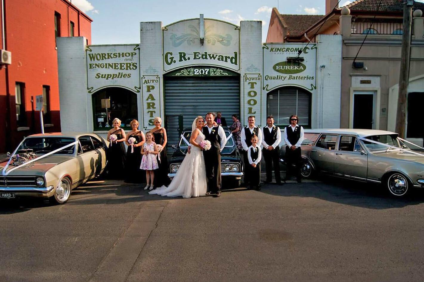 Rhiannon Simpson's wedding cars