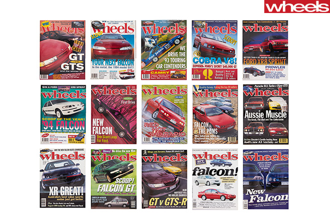 Wheels -ford -Falcon -Covers -celebrating -56-years -of -Australian -manufacturing -1990s