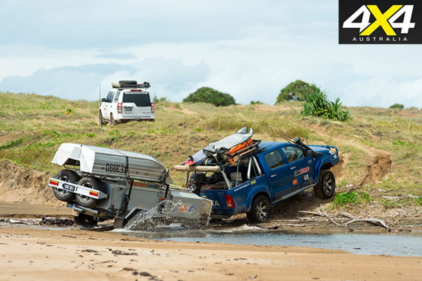 Driving offroad -carrying a lot of gear