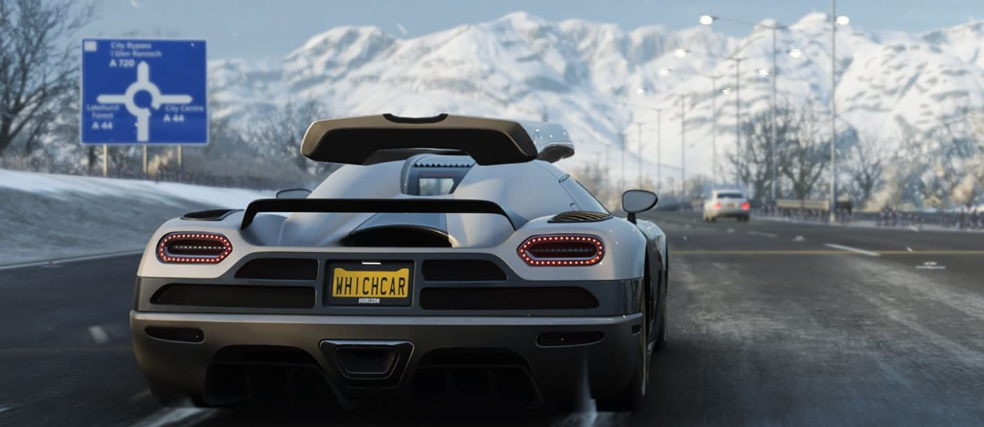 Koenigsegg Regera with WhichCar number plate