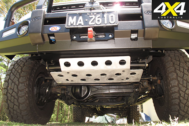 Steering guard attached