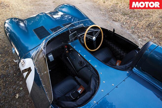 Jaguar d-type top view
