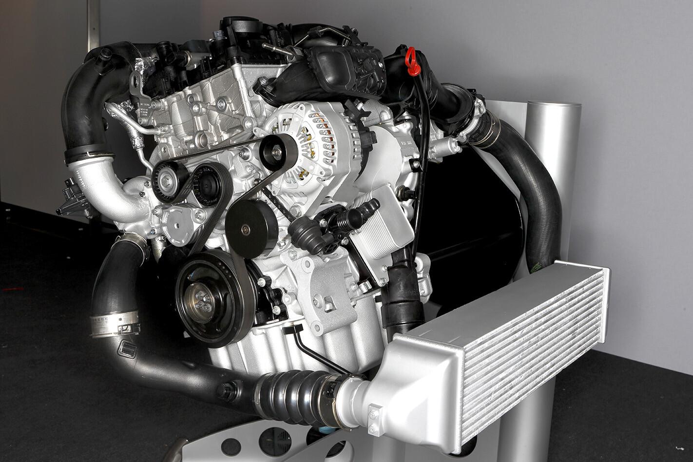 BMW twinpower 3 cylinder engine