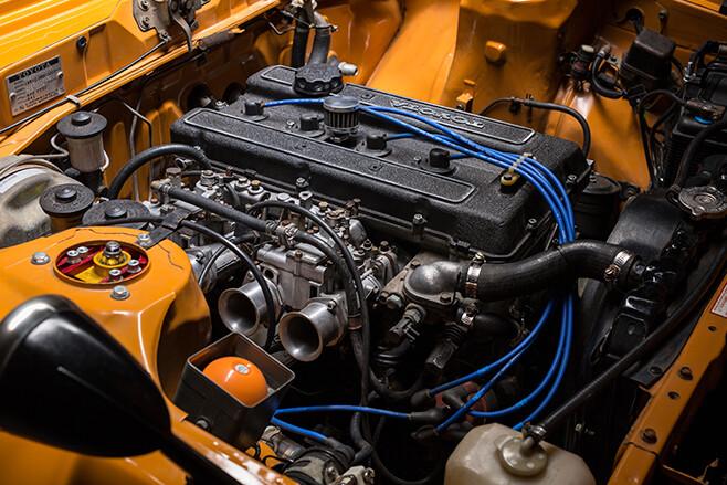 Toyota Celica engine bay