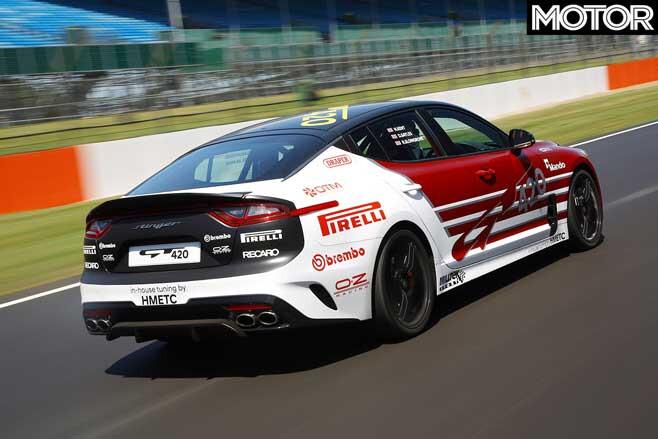 Kia Stinger GT420 track car performance