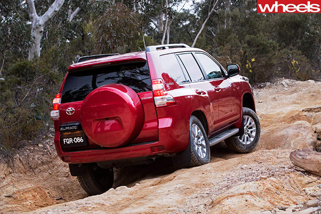 Toyota -prado -rock -climbing