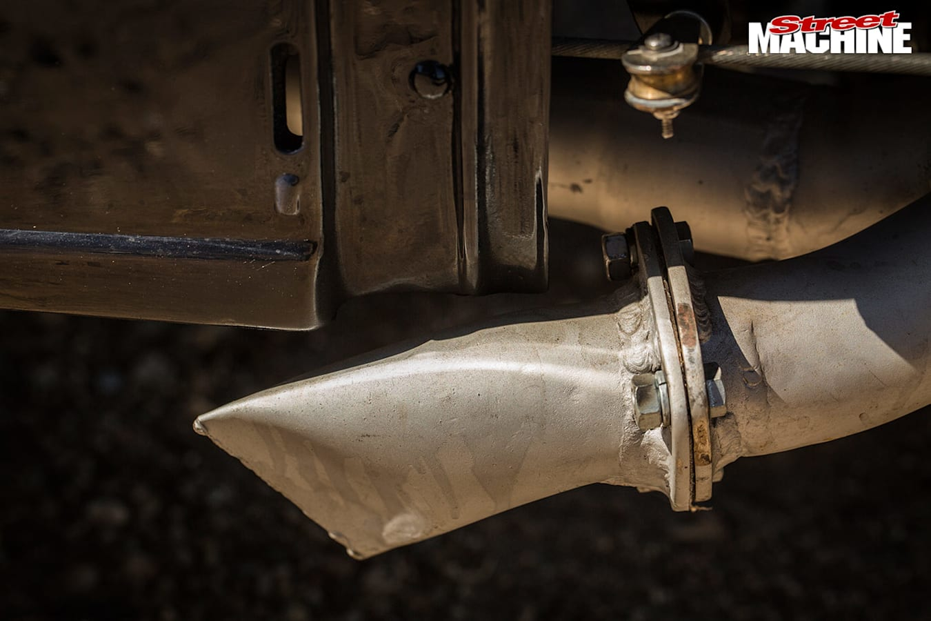Ford Model A coupe exhaust