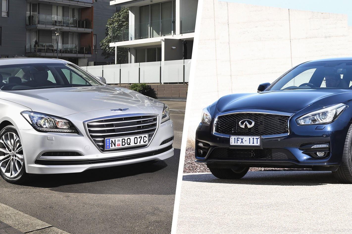 Hyundai Genesis and Infiniti Q70