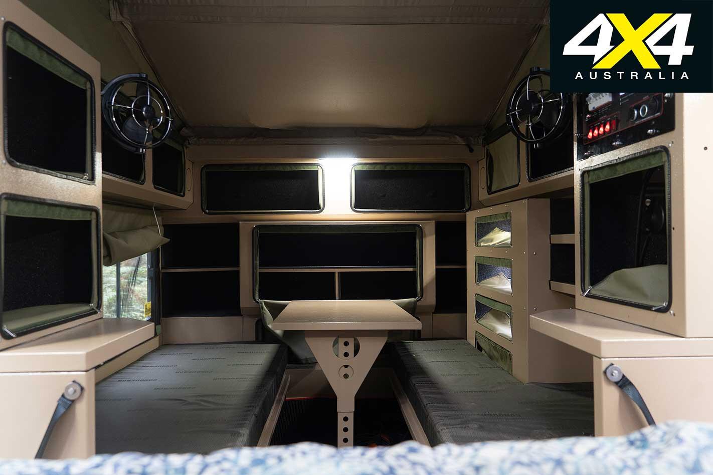 Conquerer UEV 490 Camper Trailer Interior Jpg