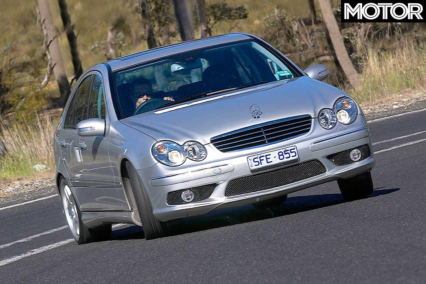 2005 Mercedes Benz C 55 AMG Handling Jpg