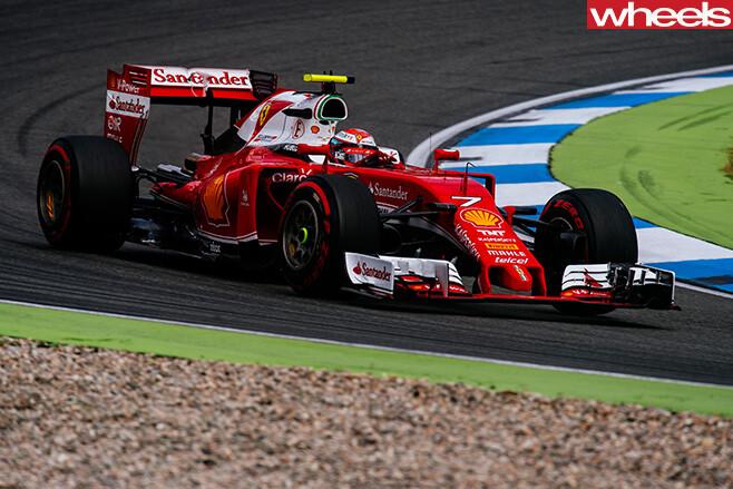 Ferrari -F1-car -racing -side