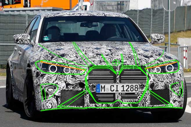 2020 BMW M 3 Spy Shot Projection Jpg