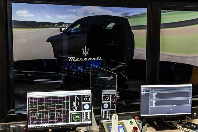 Maserati's dynamic simulator