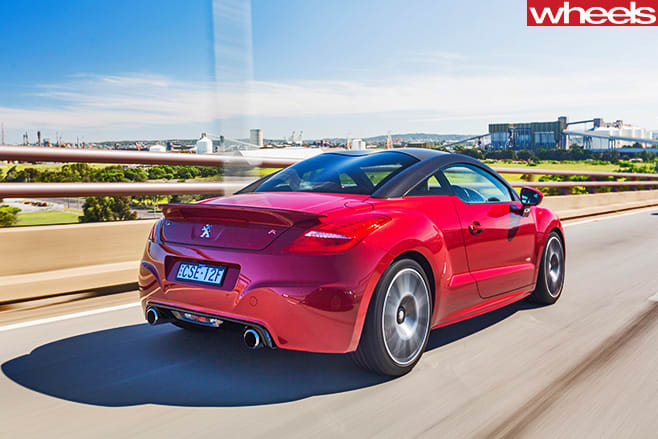 Peugeot -RC-Z-rear -driving -on -highway