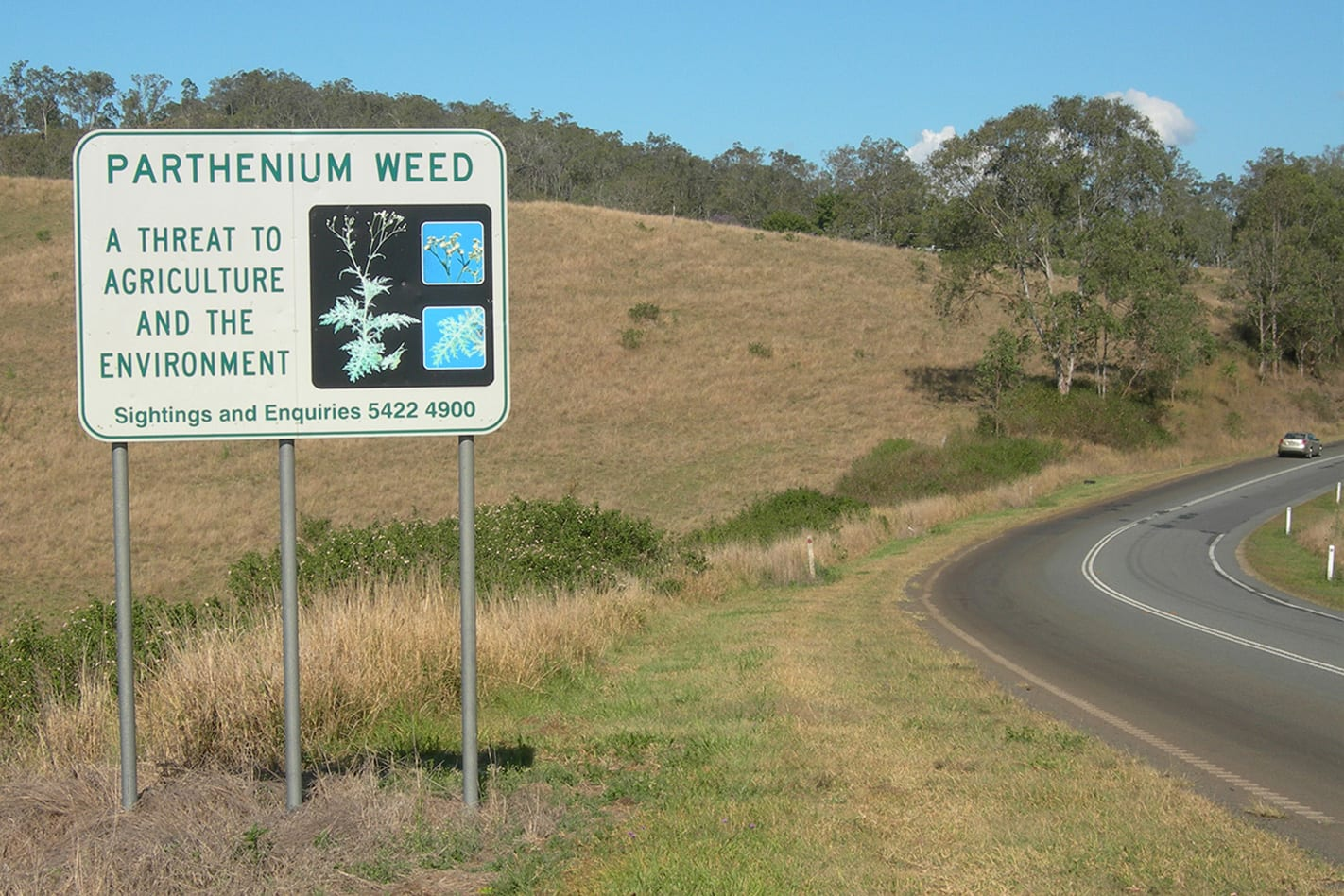 QLD argriculture warning road signs