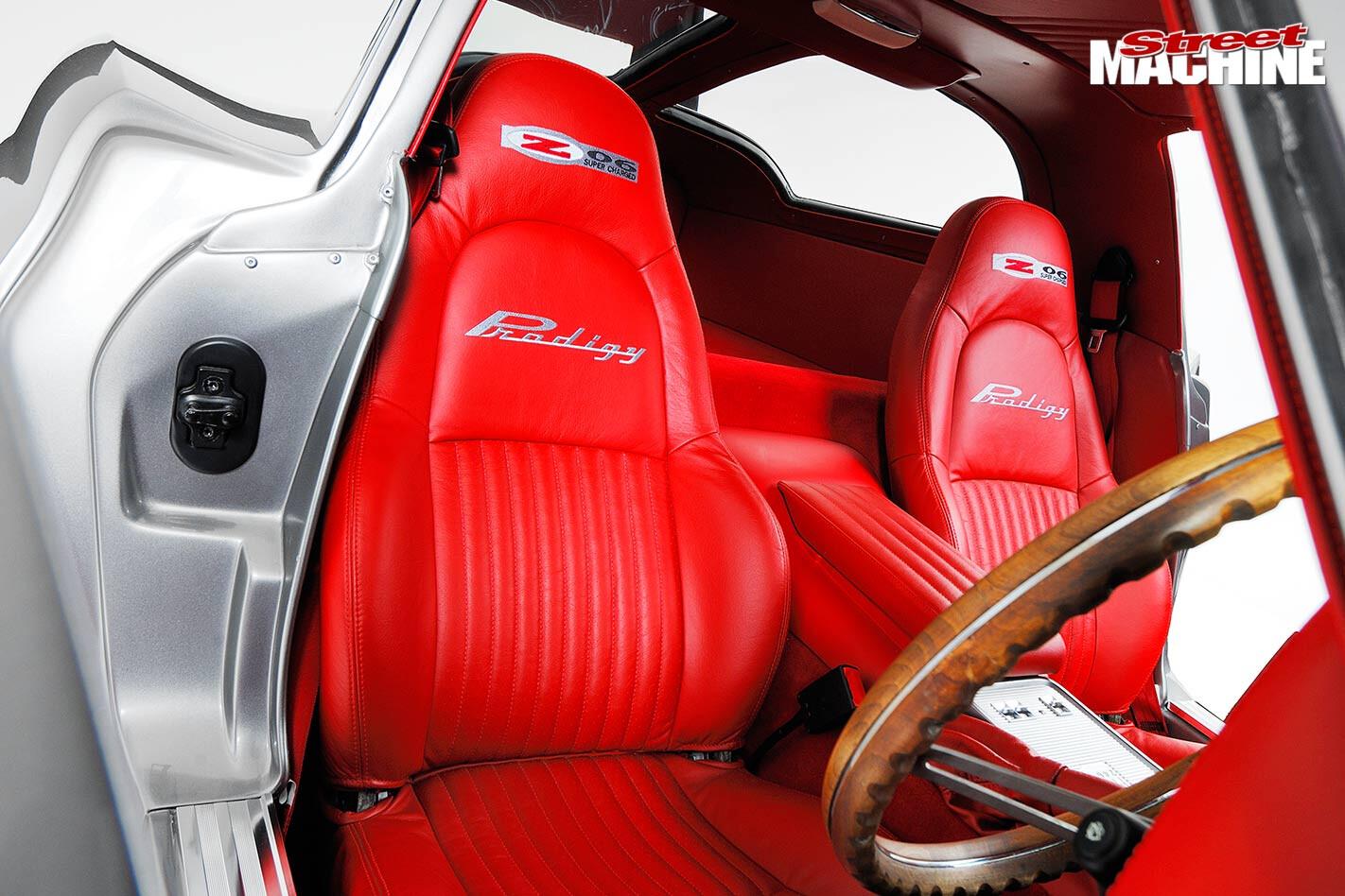 restomod corvette c2 interior