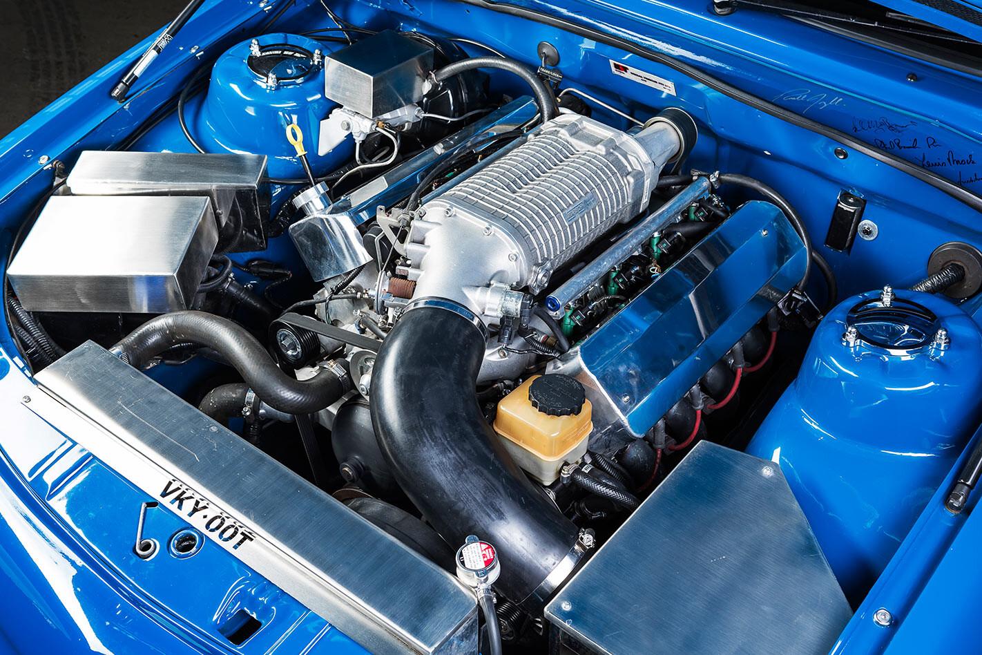 Holden VK one tonner engine bay