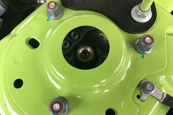 Shockworks coilover suspension.