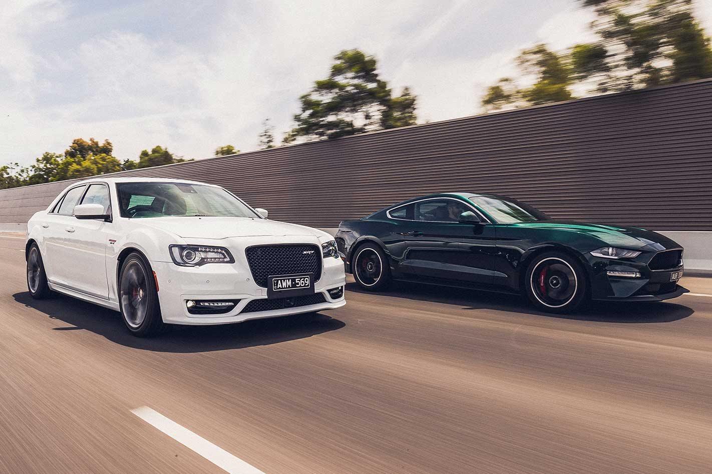 2019 Ford Mustang Bullitt vs Chrysler 330 SRT performance comparison review