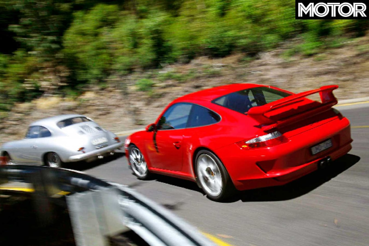 2007 Porsche 911 GT 3 Vs 1957 Porsche 356 Carrera GT Drive Comparison Jpg