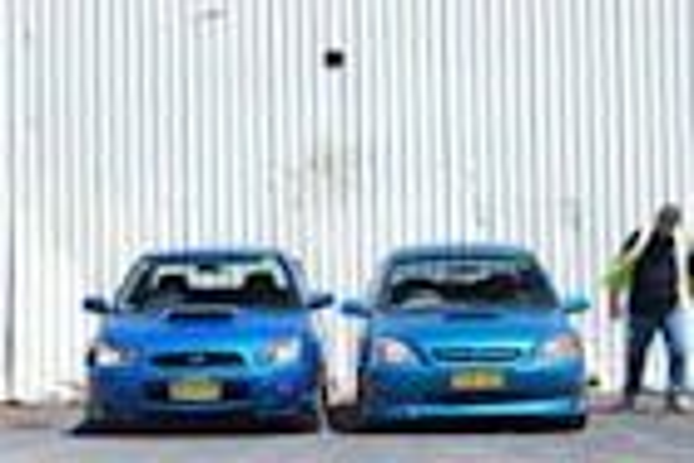 2005 Subaru Impreza WRX STi vs Kia Rio comparison review classic MOTOR