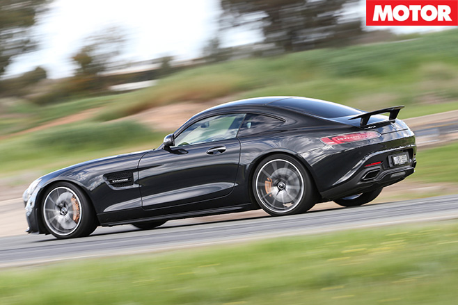 Mercedes-AMG GT S side driving