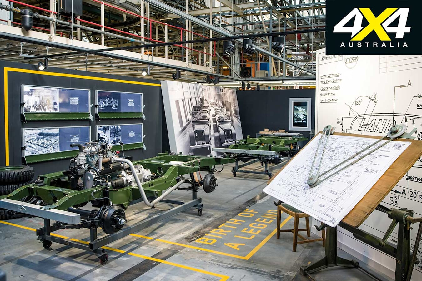 70 Years Of Land Rover Production Line Display Jpg