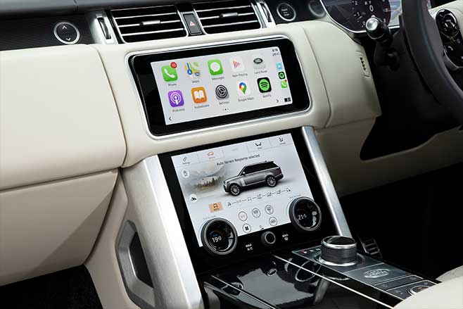 Range Rover twin-screen infotainment