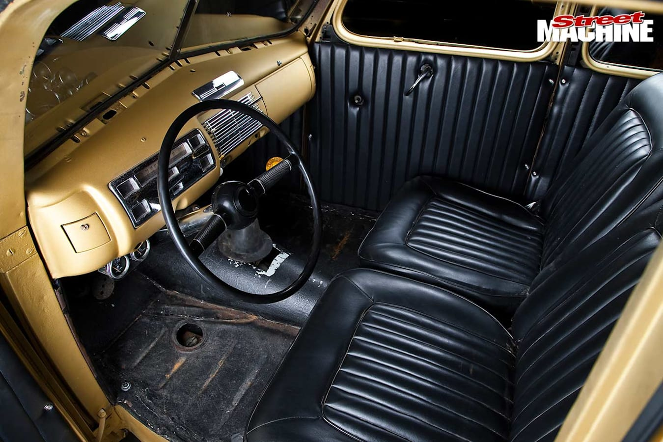 1940 Ford coupe interior
