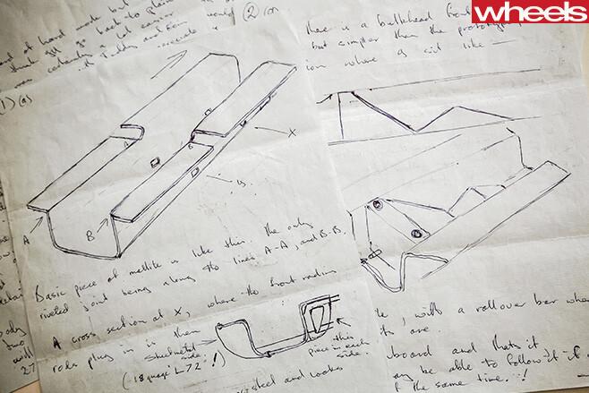 Photo -of -bruce -mclaren -drawings
