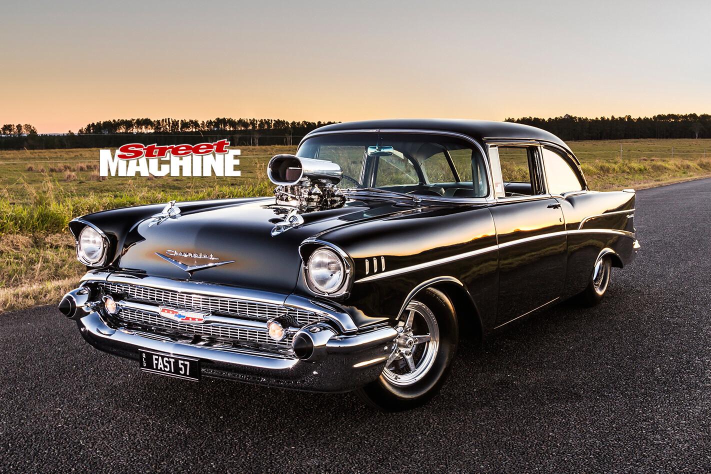 1957-Chevrolet -front -side
